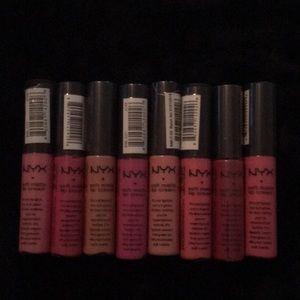 Nyx soft matte lipsticks set of 8